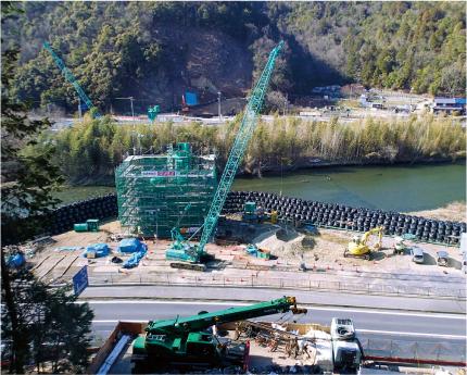 東海環状武儀川橋右岸及び左岸下部工事