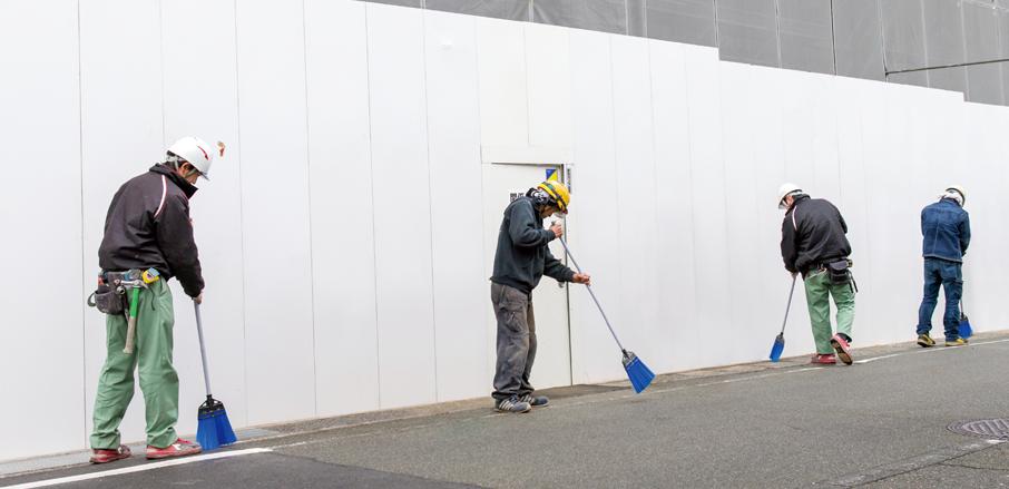 工事現場の毎日の清掃業務